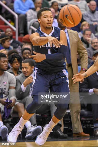 Villanova Wildcats guard Jalen Brunson makes a second half pass on January 17 at the Capital One Arena in Washington DC The Villanova Wildcats...