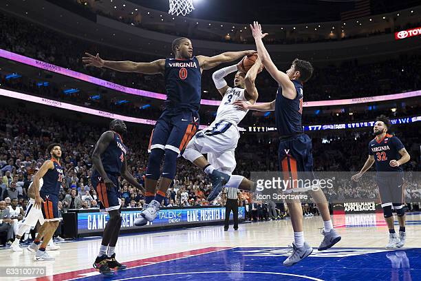 Villanova Wildcats guard Josh Hart in the lane fires the last shot of the game then Villanova Wildcats guard Donte DiVincenzo would tap in to win the...