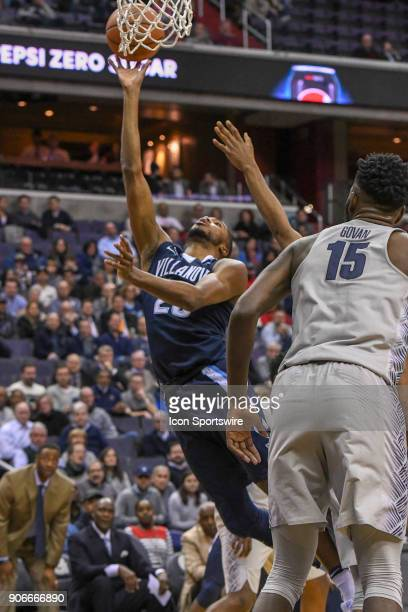 Villanova Wildcats guard Mikal Bridges scores on January 17 at the Capital One Arena in Washington DC The Villanova Wildcats defeated the Georgetown...