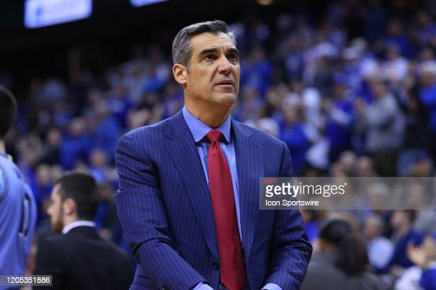 Villanova Wildcats head coach Jay Wright during the second half of the college basketball game between the Seton Hall Pirates and the Villanova...