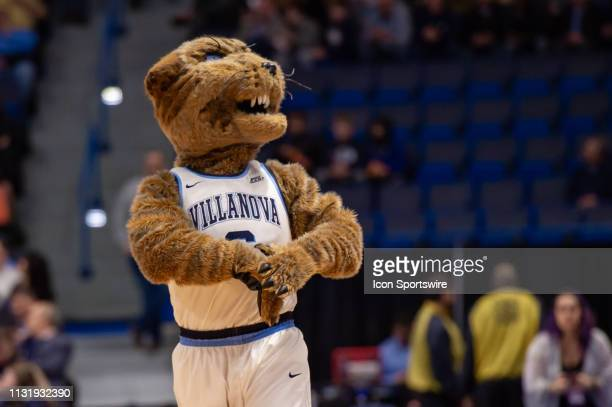 Villanova Wildcats mascot during the first half of the NCAA Division I Men's Championship first round college basketball game between the Villanova...