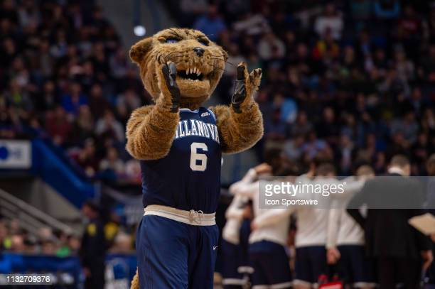 Villanova Wildcats mascot during the NCAA Division I Men's Championship second round college basketball game between the Villanova Wildcats and the...