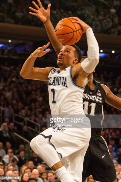 Villanova's Guard Jalen Brunson goes to the rim as he gets by Providence's Guard Alpha Diallo during the second half of the BigEast Championship game...