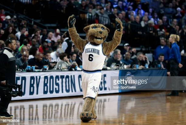 Villanova's Wild Cat during an Elite Eight matchup between the Villanova Wildcats and the Texas Tech Red Raiders on March 25 at TD Garden in Boston...