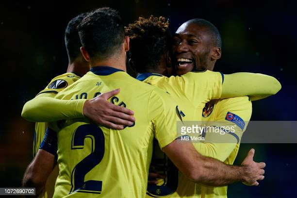 Villarreal CF player celebrates a goal during the UEFA Europa League Group G match between Villarreal CF and FC Spartak Moscow at Estadio de la...