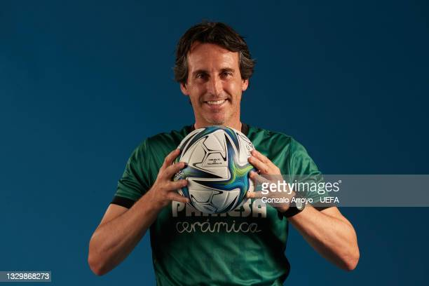 Villarreal head coach Unai Emery poses for a portrait during the UEFA Super Cup media access day on July 19, 2021 in Villarreal, Spain.