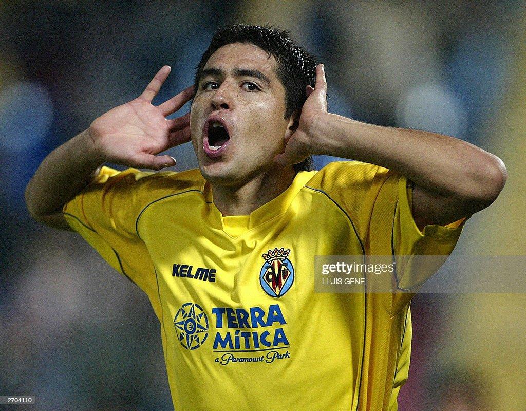 Villarreal's Argentinian Juan Riquelme c : News Photo