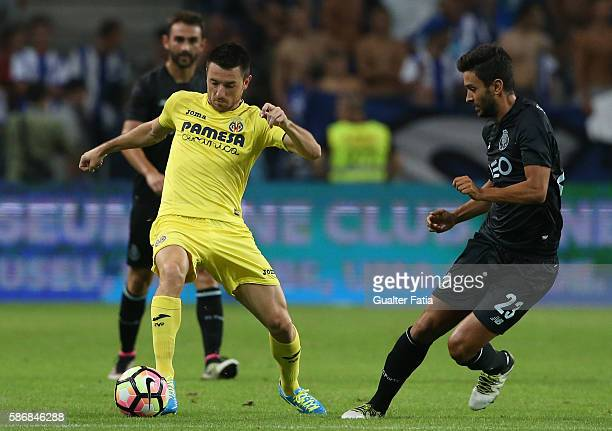 Villarreal's defender Antonio Rukavina with FC PortoÕs forward from Spain Alberto Bueno in action during the PreSeason Friendly match between FC...