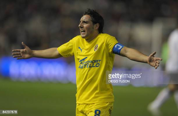 Villarreal's Santi Cazorla reacts during their Spanish league football against Valencia match at Mestalla Stadium in Valencia on January 10 2009 AFP...