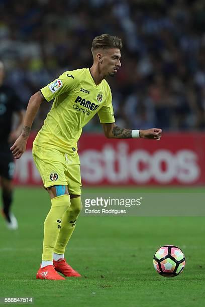 Villarreal's Spanish forward Samu Castillejo during the match between FC Porto v Villarreal CF friendly match at Estadio do Dragao on August 6 2016...