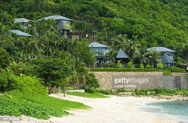 Villas by the beach part of Mandarin Oriental hotel resort on the Dadonghai bay coast of Sanya on August 15 2010 in Hainan province China Sanya is...
