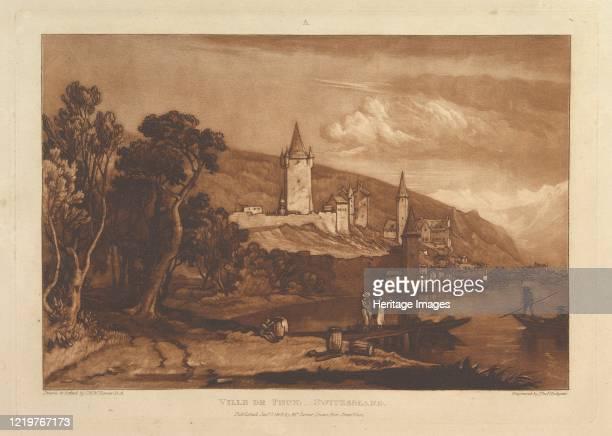 Ville de Thun, Switzerland , January 1, 1816. Artist JMW Turner.