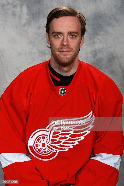 Ville Leino of the Detroit Red Wings poses for his official headshot for the 20092010 NHL season on September 12 2009 at Centre Ice Arena in Traverse...