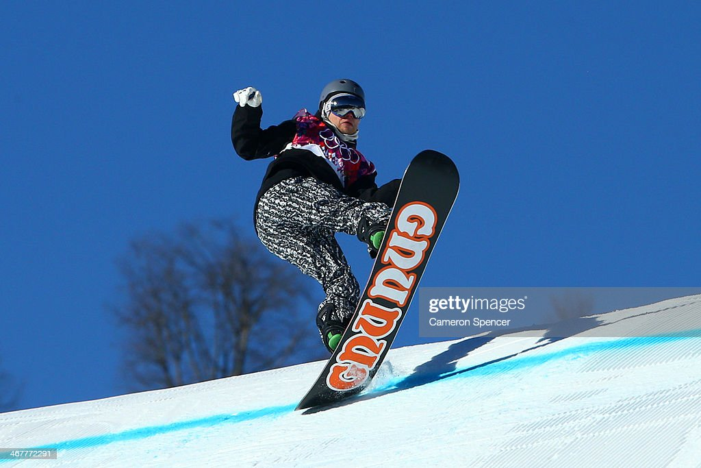 Ville Paumola of Finland competes during the Snowboard Men's Slopestyle Semifinals during day 1 of the Sochi 2014 Winter Olympics at Rosa Khutor Extreme Park on February 8, 2014 in Sochi, Russia.