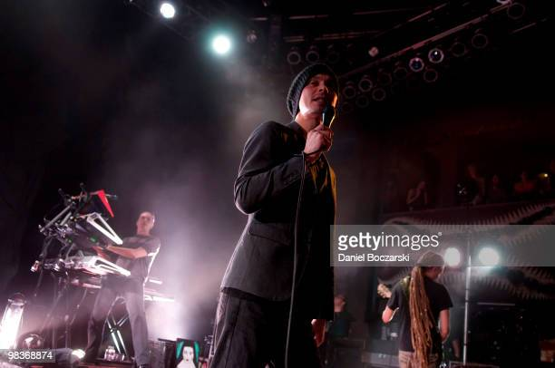 Ville Valo of HIM performs at the House Of Blues Chicago on April 9 2010 in Chicago Illinois