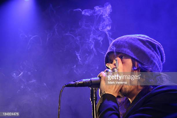 Ville Valo of Him performs at the Paradiso on February 28 2008 in Amsterdam The Netherlands
