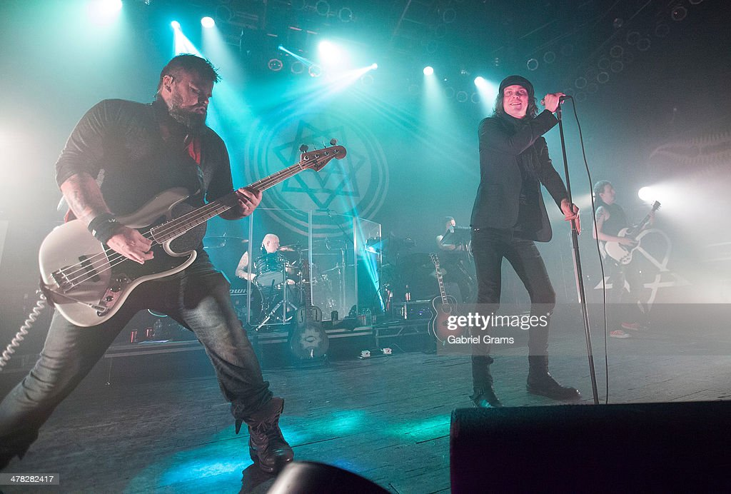 Ville Valo of HIM performs in concert at House Of Blues Chicago on March 12, 2014 in Chicago, Illinois.