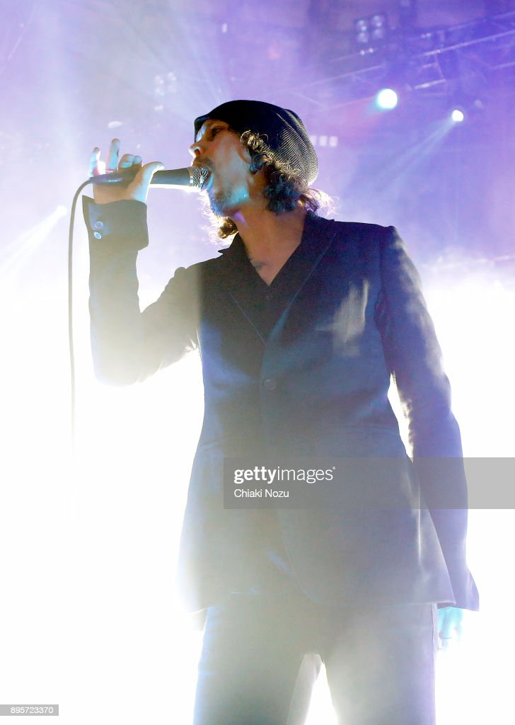 Ville Valo of HIM performs live on stage at The Roundhouse on December 19, 2017 in London, England.