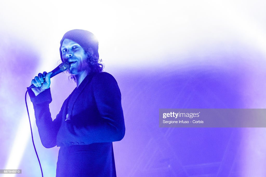 Ville Valo of HIM performs on stage at Alcatraz on December 7, 2017 in Milan, Italy.