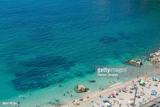 Villefranche-sur-Mer beach in Nice, France