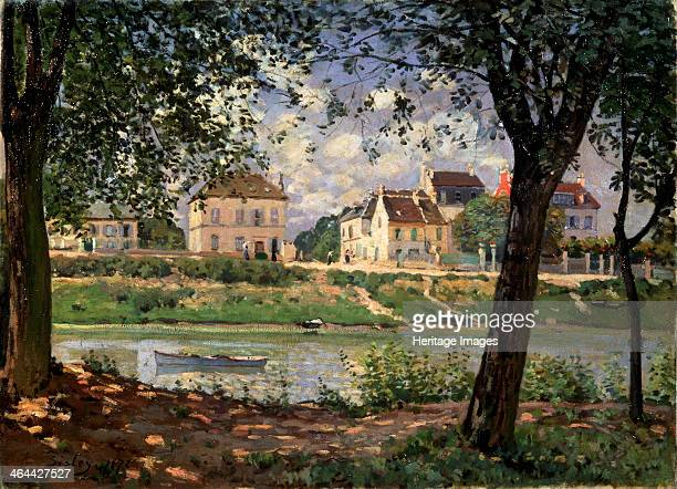 'VilleneuvelaGarenne ' 1872 Sisley Alfred Found in the collection of the State Hermitage St Petersburg