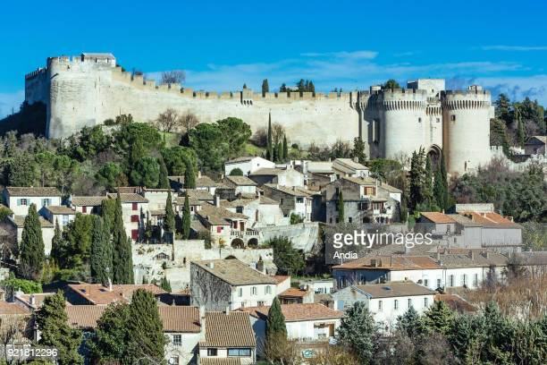 Villeneuve-les-Avignon : the Old Town at the bottom of Fort Saint-Andre .