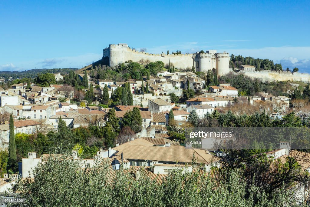Villeneuve-les-Avignon (south-eastern France): the Old Town at the bottom of Fort Saint-Andre (registered as a National Historic Landmark, French 'Monument Historique').