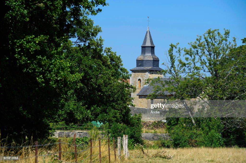 Villers-devant-Mouzon, the church. : News Photo
