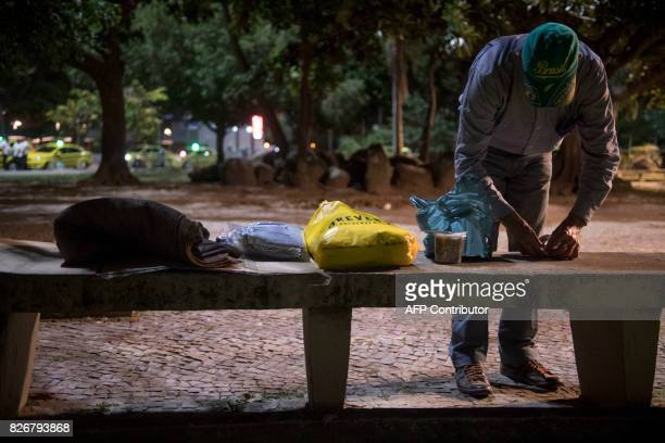 Vilmar Mendonca who has worked as a human resources manager for several companies in Brazil and has been living in the streets for a year and a half...