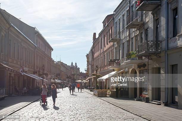 Vilniaus gatve street in Kaunas, Lithuania
