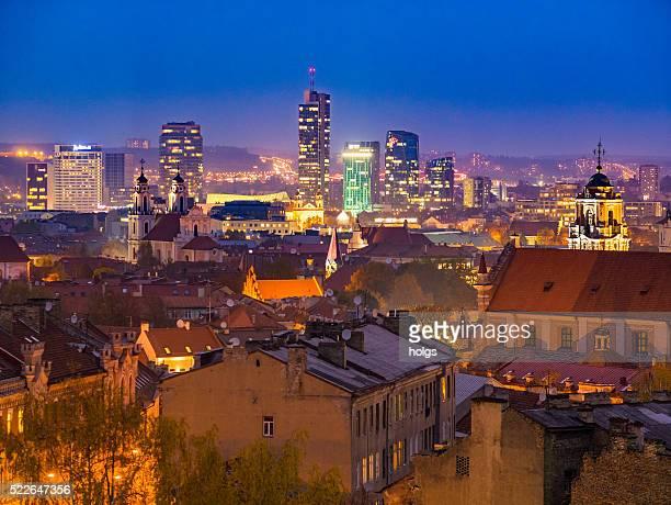 Vilnius Stadt bei Nacht
