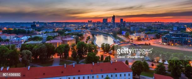 Vilnius, Lithuania, business district city view