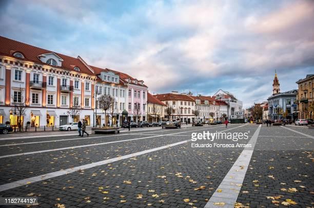 vilnius town hall square - vilnius stock pictures, royalty-free photos & images