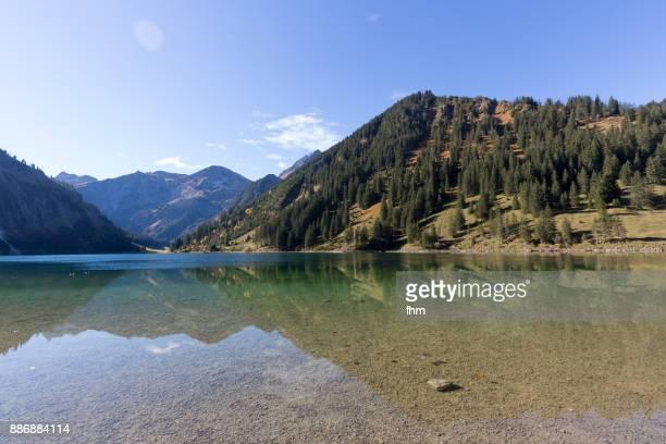 Vilsalpsee with alp mountains (Reutte/ Tirol/ Austria)