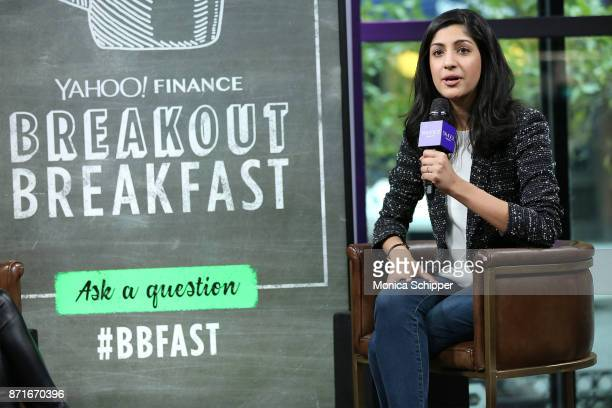 Vimeo CEO Anjali Sud visits Yahoo Finance Breakout Breakfast at Build Studio on November 8 2017 in New York City
