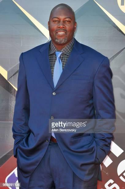 Vin Baker attends the 2018 NBA Awards Show at Barker Hangar on June 25 2018 in Santa Monica California