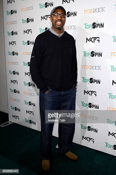 Vin Baker attends the 7th Annual New York City TopSpin Charity Event at Metropolitan Pavilion on December 9 2015 in New York City