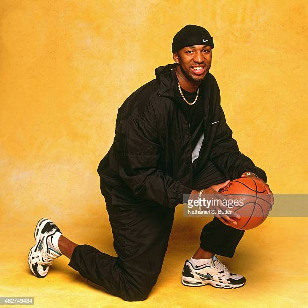 14e5e7683852 Vin Baker of the Seattle Supersonics poses for a portrait during NBA  AllStar Weekend on February