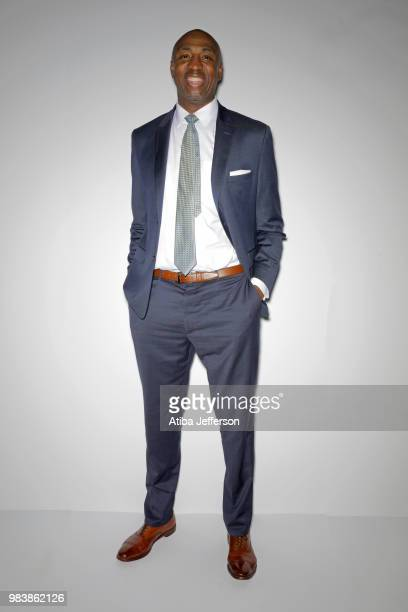 Vin Baker poses for a portrait during the NBA Awards Show on June 25 2018 at the Barker Hangar in Santa Monica California NOTE TO USER User expressly...