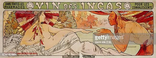 Vin des Incas Poster by Alphonse Mucha
