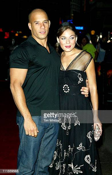 Vin Diesel and Alexa Davalos during 'The Chronicles Of Riddick Pitch Black 2' London Premiere Arrivals at Vue Leicester Square in London Great Britain