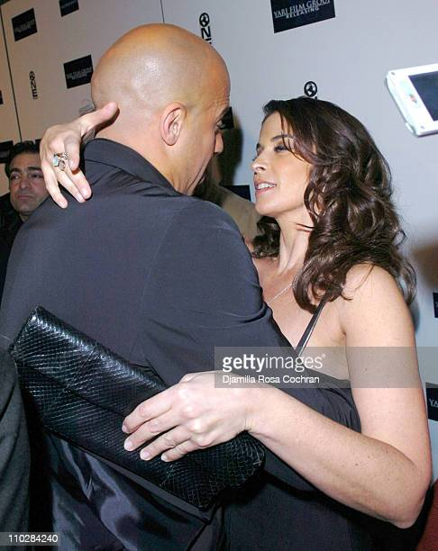 Vin Diesel and Annabella Sciorra during Find Me Guilty New York City Premiere Inside Arrivals at Sony Lincoln Square in New York New York United...