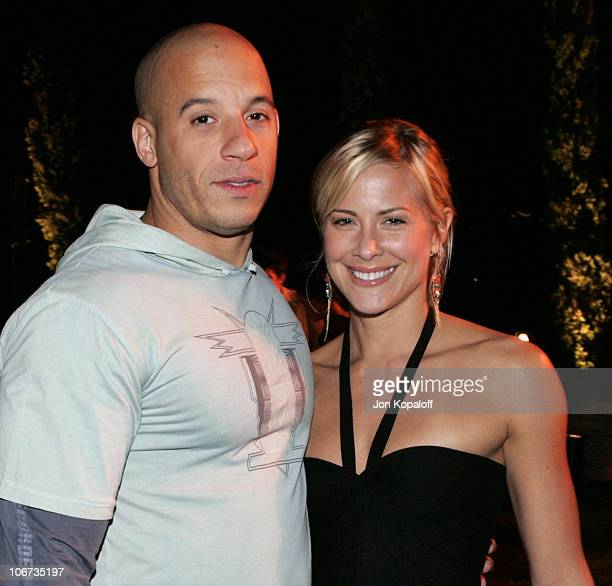 Vin Diesel and Brittany Daniel during 2004 Pre-Emmy Party Hosted By Endeavor Agency at Private Residence in Beverly Hills, California, United States.
