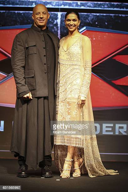 Vin Diesel and Deepika Padukone attend the Paramount Pictures fan screening for xXx The Return Of Xander Cage January 12 2017 at St Regis Hotel Lower...