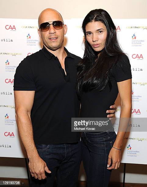 Vin Diesel and his girlfriend model Paloma Jimenez attend CAA's Young Hollywood Party benefiting Communities In Schools at The Colony on October 13...