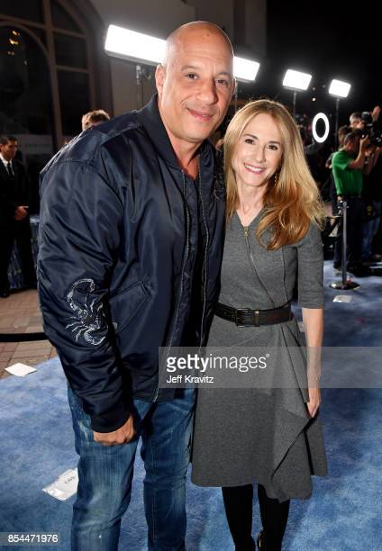 Vin Diesel and Holly Hunter at HBO's 'Spielberg' Premiere at Paramount Studios on September 26 2017 in Hollywood California