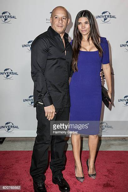 Vin Diesel and Paloma Jimenez arrive at the 22nd Fulfillment Fund Stars Benefit Gala at The Globe Theatre at Universal Studios on November 2 2016 in...
