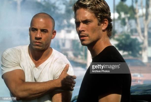 Vin Diesel and Paul Walker in a scene from the film 'The Fast And The Furious' 2001
