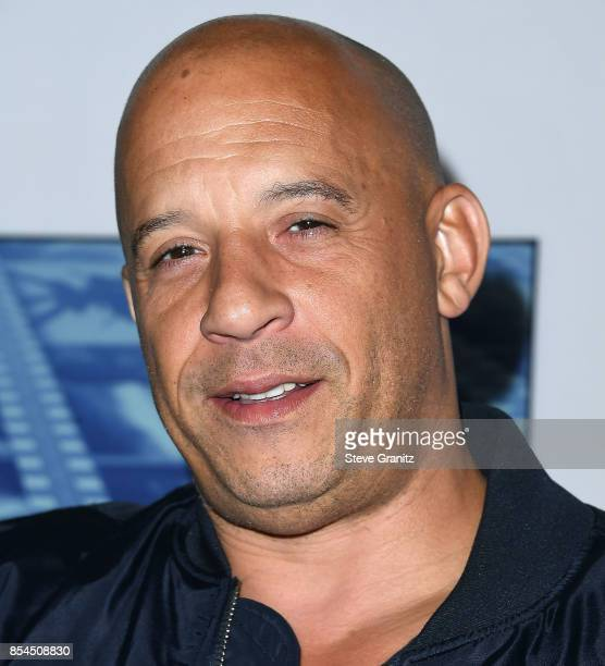 Vin Diesel arrives at the Premiere Of HBO's 'Spielberg' at Paramount Studios on September 26 2017 in Hollywood California