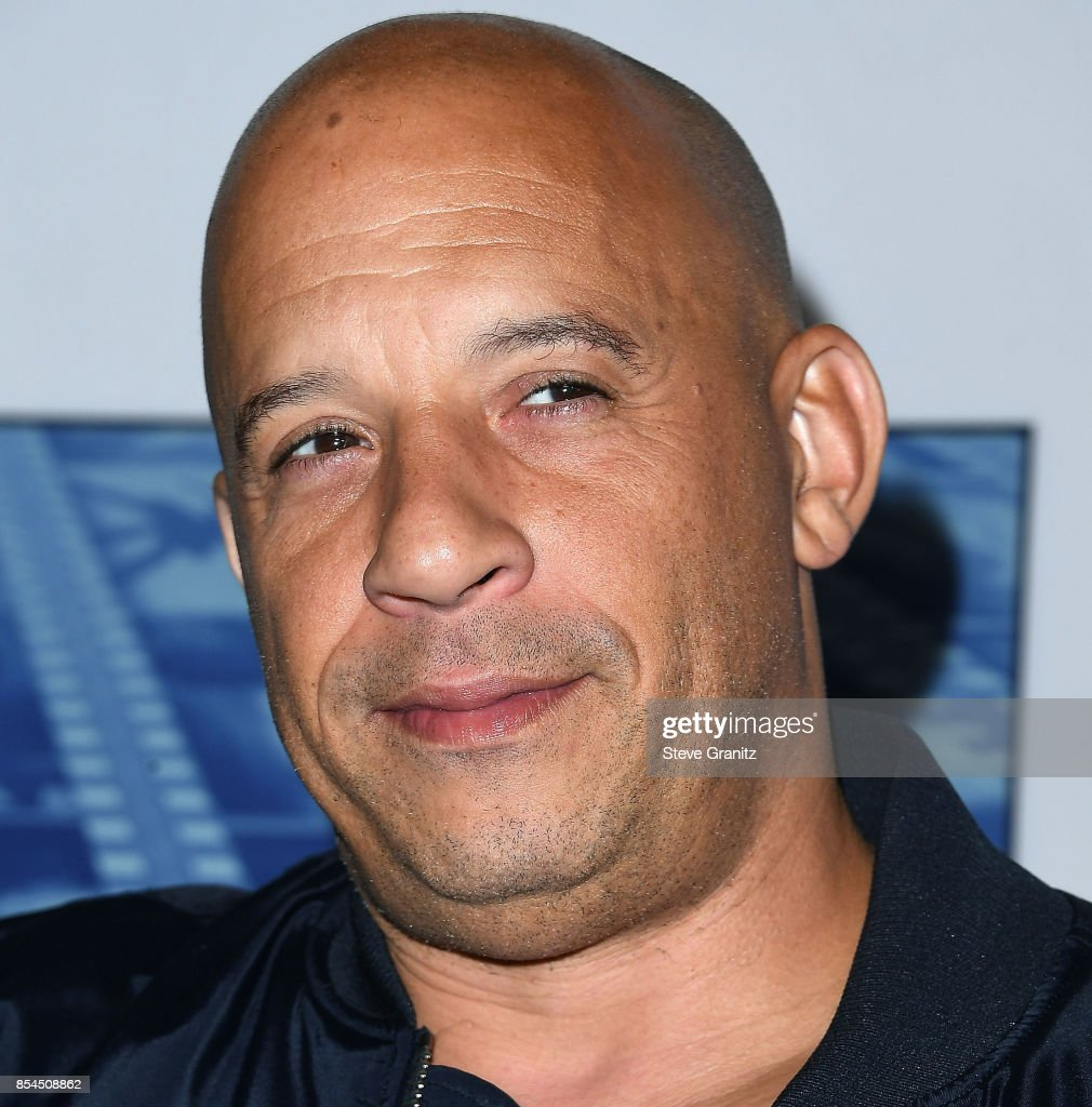 Vin Diesel arrives at the Premiere Of HBO's 'Spielberg' at Paramount Studios on September 26, 2017 in Hollywood, California.